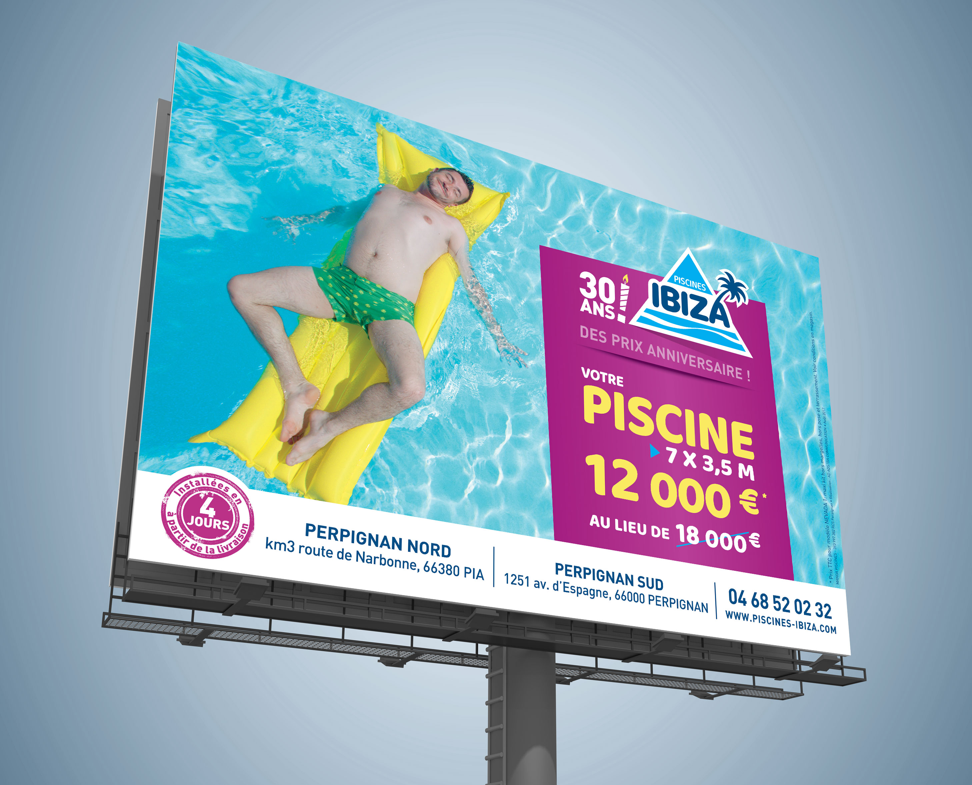 Les 30 Ans Des Piscines Ibiza Studio De Communication Graphique A