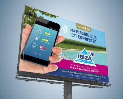 Affiche Piscine connectée Ibiza 4x3